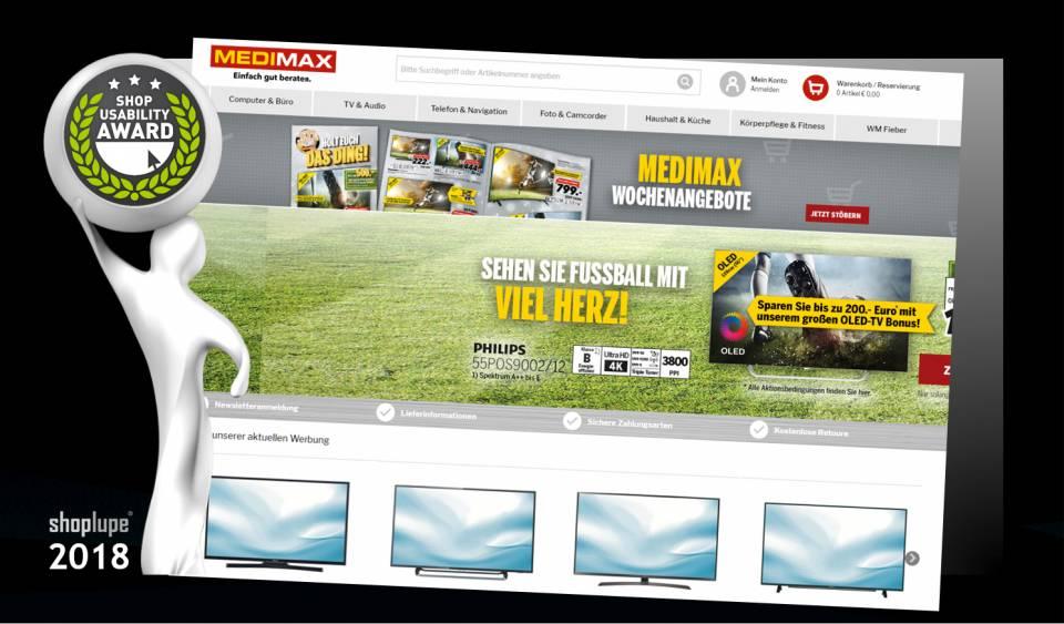 Der Shop Usability Award geht in diesem Jahr an medimax.de.