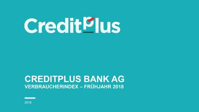 Verbraucherindex CreditPlus