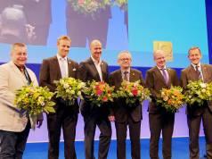 Werden die Geschicke der telering in den nächsten zwei Jahren entscheidend mitprägen (v.li.): Gerhard Hager, Robert Drosdek (GH Brömmelhaupt), Frank Schoberer (GH Alexander Bürkle), Peter Rundt (GH Sonepar), Martin Witte und Frank Suhr.