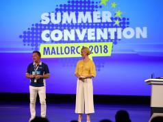 Waren (auf der Bühne) zwei Tage unzertrennlich: Benedict Kober und Moderatorin Judith Rakers.