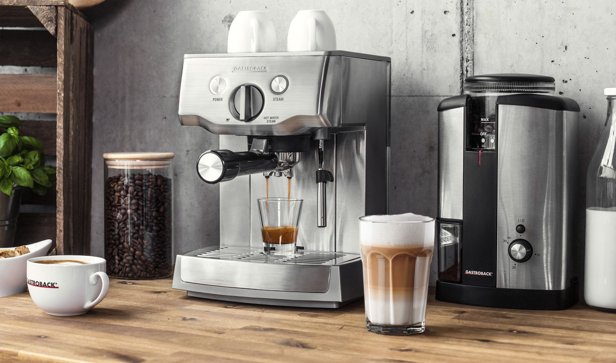 <h1>Gastroback Espressomaschine Design Espresso Pro</h1><h3 style='font-size: 20px; margin: 0px 0px 15px 0px;'> -Siebträgermaschine, E.S.E. Pad-Einsatz</h3>
