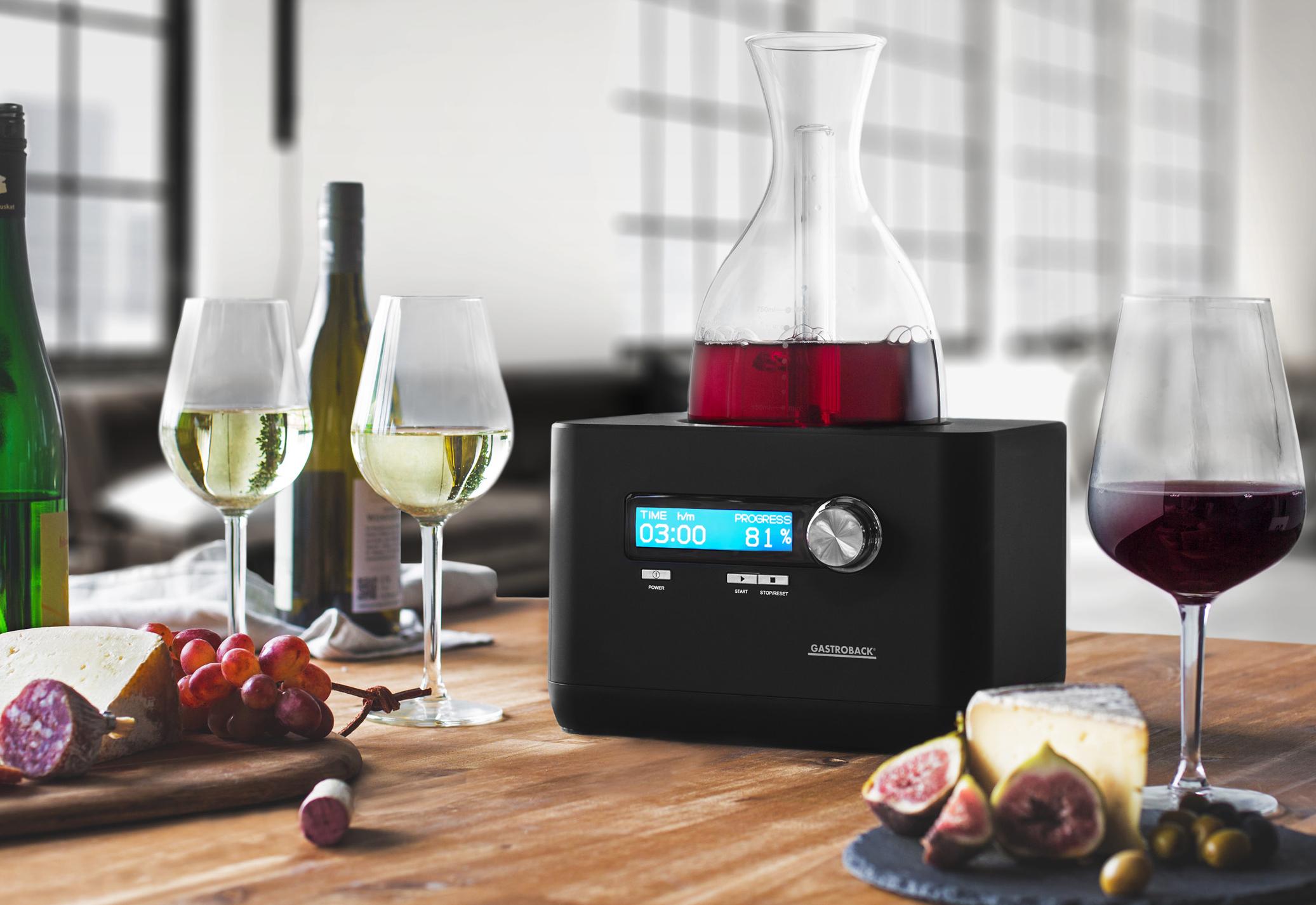 <h1>Gastroback Home Sommelier</h1><h3 style='font-size: 20px; margin: 0px 0px 15px 0px;'> -Belüftung des Weines mit hochkonzentriertem Sauerstoff</h3>