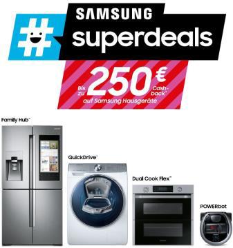 """Samsung verspricht """"Geld zurück"""" mit #superdeals."""
