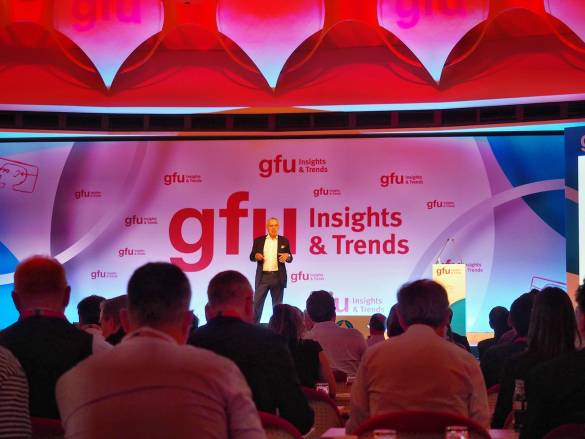 """Für rund 300 Teilnehmer aus Medien, Industrie und Handel bot auch in diesem Jahr das Innovationsforum """"gfu Insights & Trends"""" des IFA-Veranstalters spannende wie zukunftsweisende Themen zuhauf."""