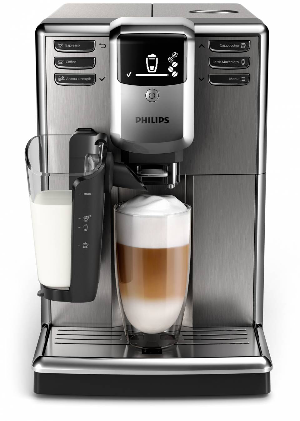 Philips Kaffeevollautomat 5000 LatteGo EP533510 mit LatteGo Milchsystem.