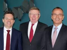 Zufrieden über das gute Ergebnis im abgelaufenen Geschäftsjahr (v.li): Der expert-Vorstand mit Jochen Ludwig (Vorsitzender), Gerd-Christian Hesse und Dr. Stefan Müller.