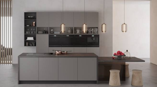 Ein griffloses Design verleiht der Designlinie Collection.11 von Bauknecht ein unverwechselbares Äußeres, das sich in jedes Küchenumfeld integriert.