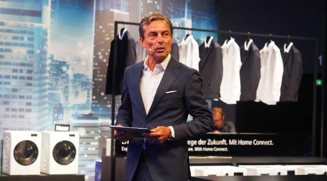 """Roland Hagenbucher, Geschäftsführer Siemens Hausgeräte: """"Heute sind wir der einzige Vollsortimenter bei vernetzten Hausgeräten, und wir haben mit Abstand das größte Partner-Ökosystem auf dem Markt."""""""
