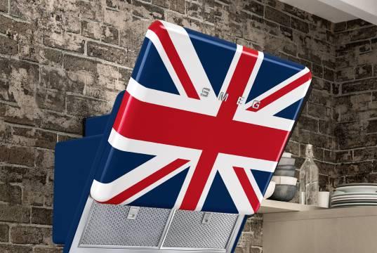 Smeg Dunstabzugshaube Union Jack in 75cm Breite.