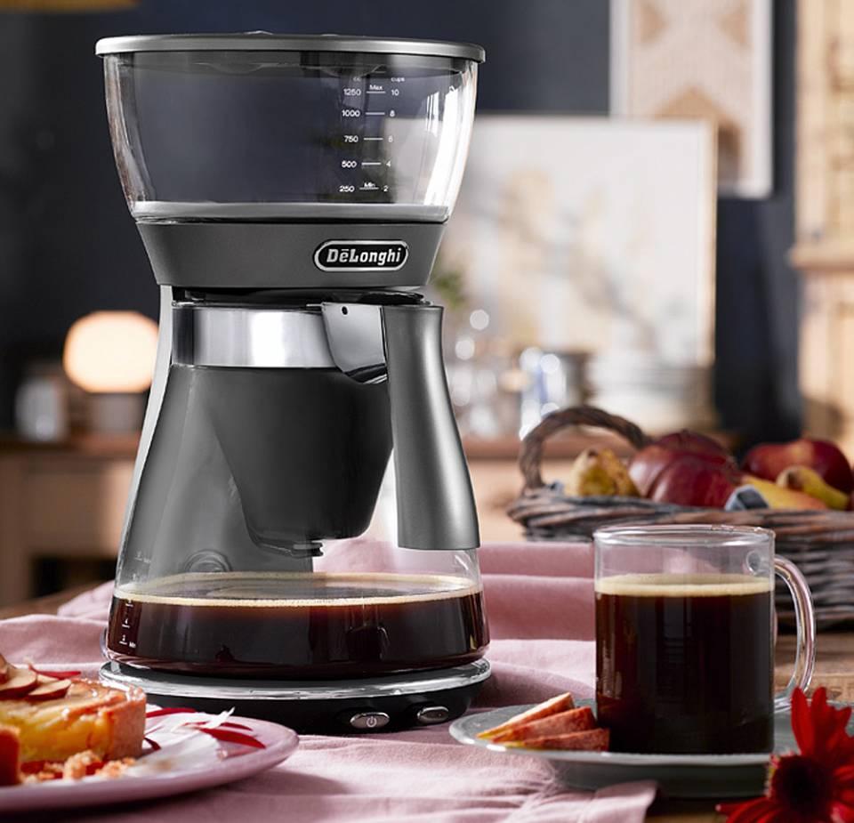 De´Longhi Filterkaffeemaschine Clessidra bietet zwei Brühverfahren.