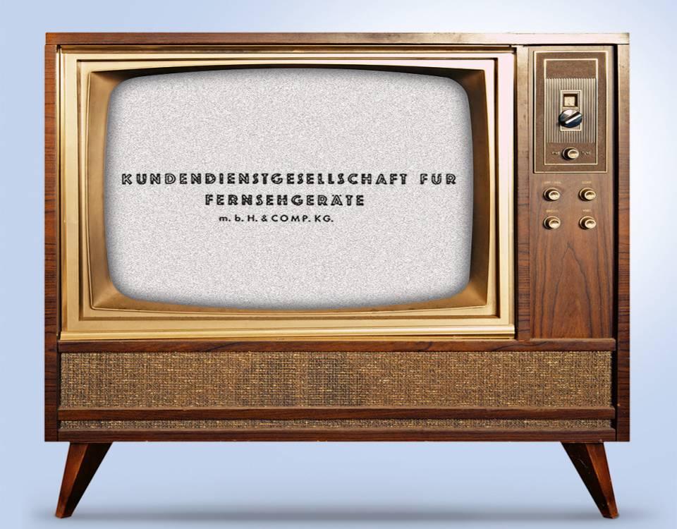 Historisch: Garantieverlängerung von Fernsehgeräten seit 1963.
