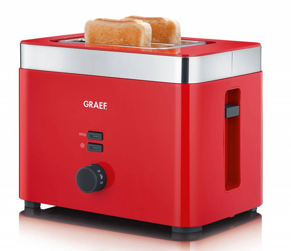Graef Toaster TO 63 Rote Serie mit Defrost-Funktion.