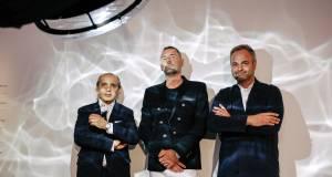 Auf IFA-Besuch bei LG Signature (v.li.): Der Hamburger Architekt Hadi Teherani, der Modeschöpfer Michael Michalsky und der Londoner Designer Jason Bruges.