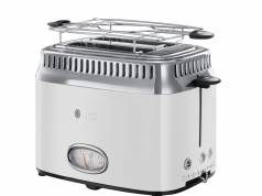 Russell Hobbs Toaster Retro Classic Blanc im 50-iger Jahre Design.