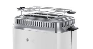 Russell Hobbs Toaster Retro Classic Blanc im 50-iger Jahre Design.