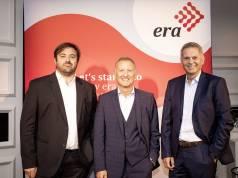 Startklar vor der IFA (v.l.n.r).: Enrique Martinez, CEO Fnac Darty, Klaus-Peter Voigt, CEO European Retail Alliance und Pieter Haas, CEO MediaMarktSaturn Retail Group.