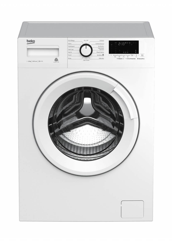 Beko Waschtrockner Steam WDW85141 für 8 kg Waschen, 5 kg Trocknen.