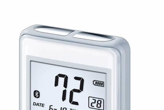 Beurer EKG-Messgerät ME 90 mit Aufzeichnung der Herzfrequenz.