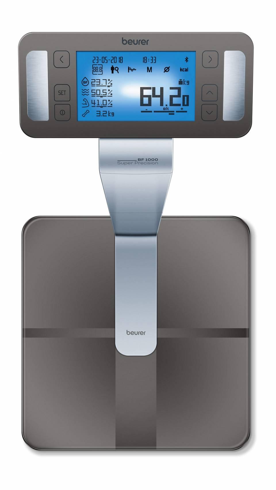 Beurer Waage BF 1000 Super Precision mit Segmentanalyse.
