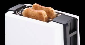 Cloer Toaster 3531 mit Toastschlitzen für 2 XXL-Toastscheiben.