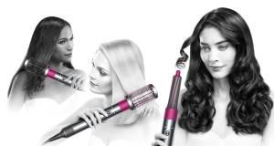 Dyson Haarstyler Airwrap mit unterschiedlichen Aufsätzen für natürliche und elegante Stylings.