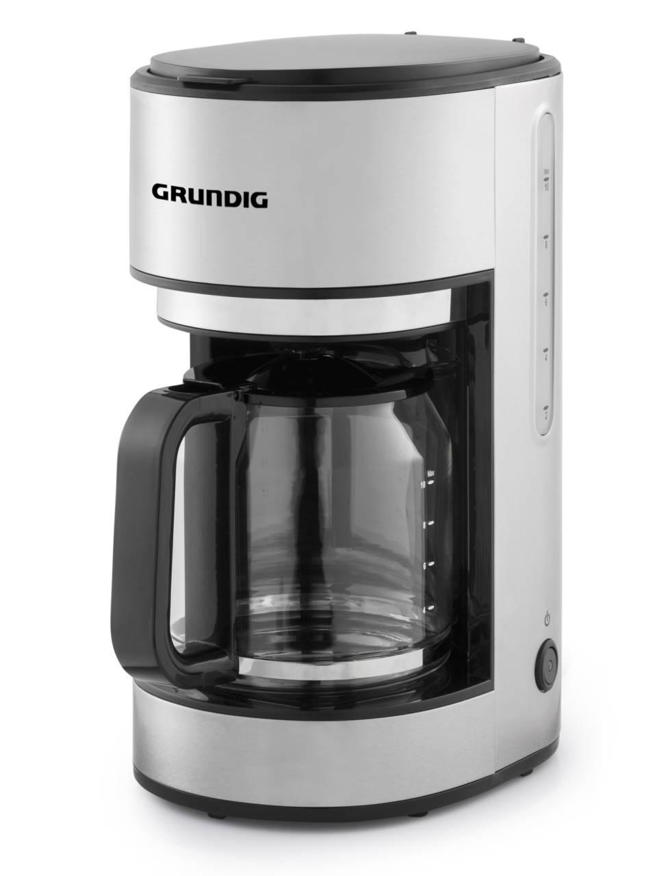 Grundig Kaffeemaschine KM 5620 mit Edelstahlkorpus.
