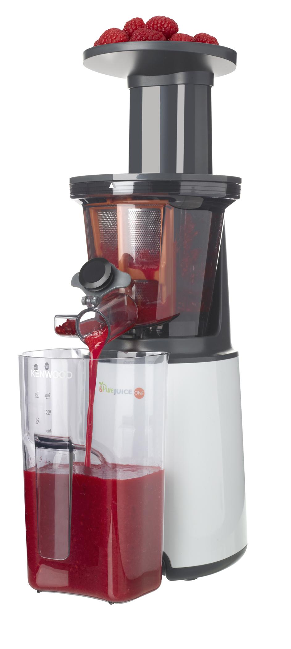 Kenwood Slow Juicer PureJuice One verarbeitet Obst, Gemüse, Spinat, Mandeln.