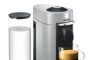 Nespresso Kaffeemaschine Vertuo mit Aromaextraktion.