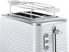 Russell Hobbs Toaster Inspire White mit 6 Bräunungsstufen.
