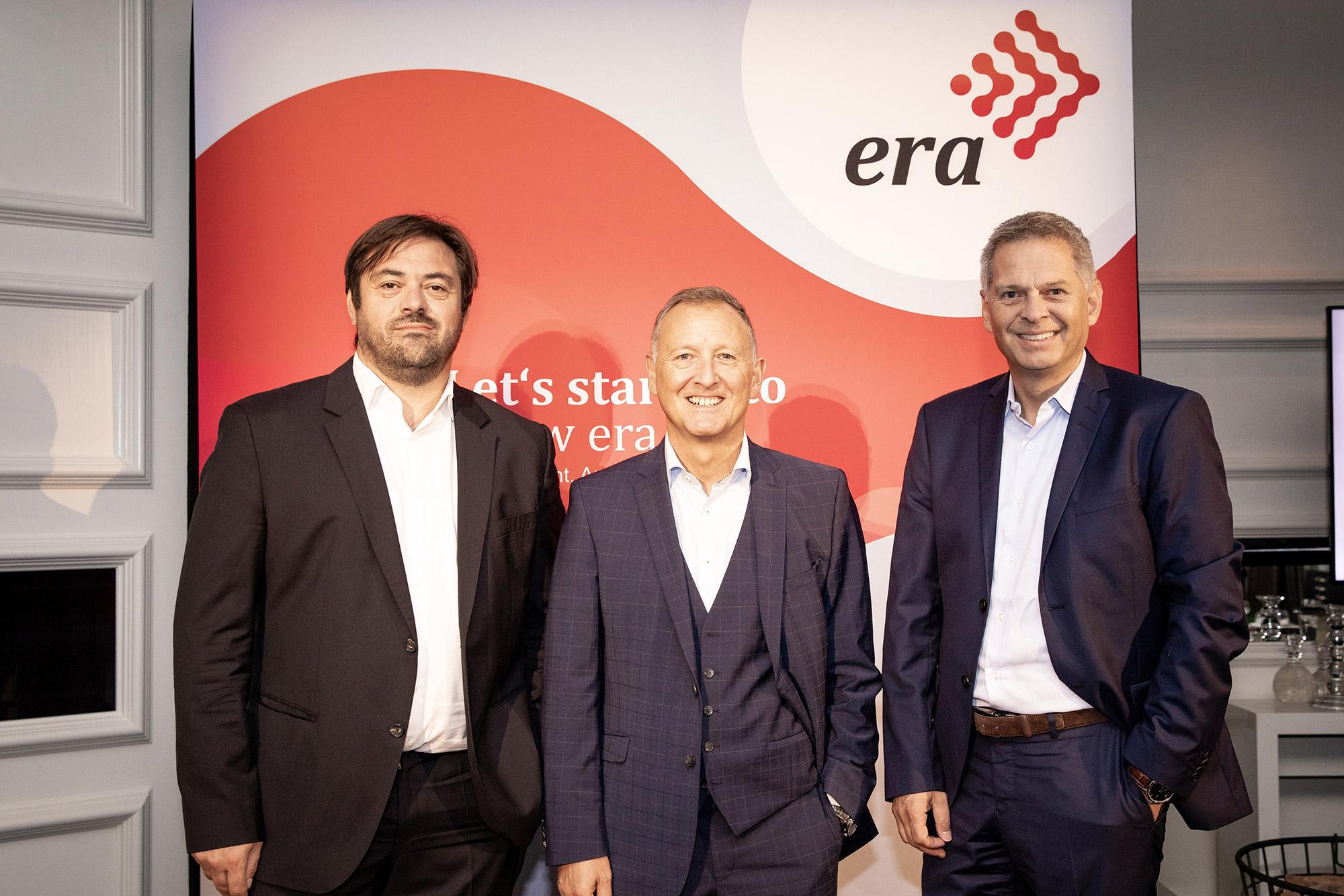 Startklar: Enrique Martinez, CEO Fnac Darty, Klaus-Peter Voigt, CEO European Retail Alliance und Pieter Haas, CEO MediaMarktSaturn Retail Group.