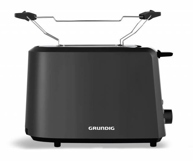 Grundig Toaster TA 4620 aus schwarzem Kunststoff.