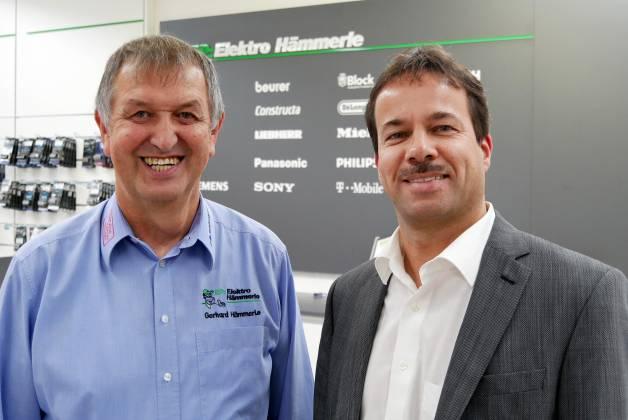Gerhard Hämmerle (li) und sein Kompagnon Steffen Benz sind mit ihrem Umbau mehr als zufrieden.