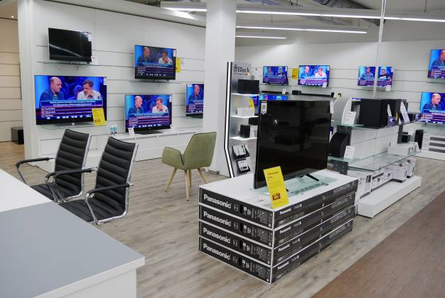Ein Blick auf die TV-Abteilung.