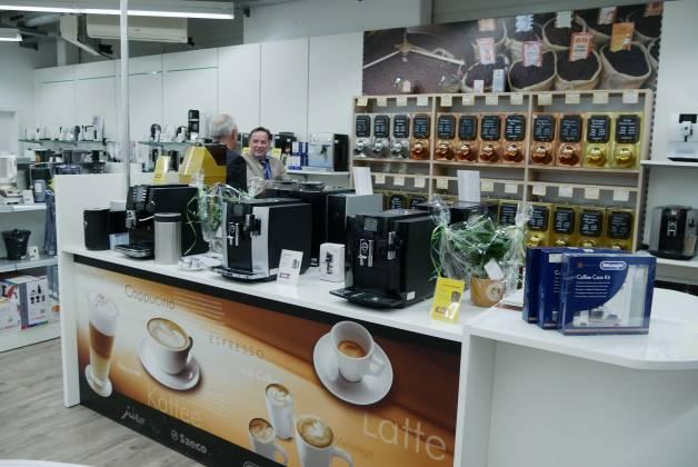 Ein echter Hingucker: Das Thema Kaffee nimmt bei EP: Hämmerle die dominante Rolle ein.