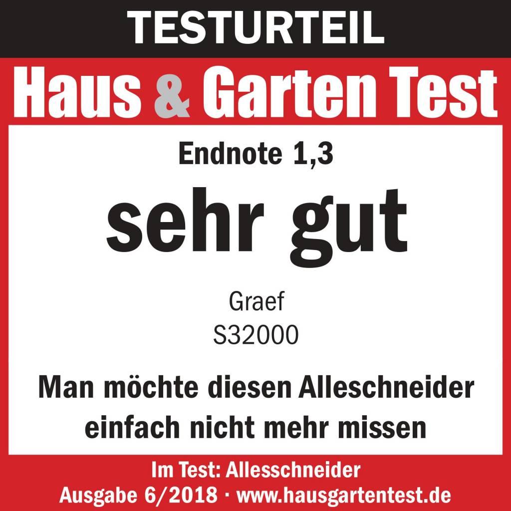 Testurteil Haus & Garten Test Graef
