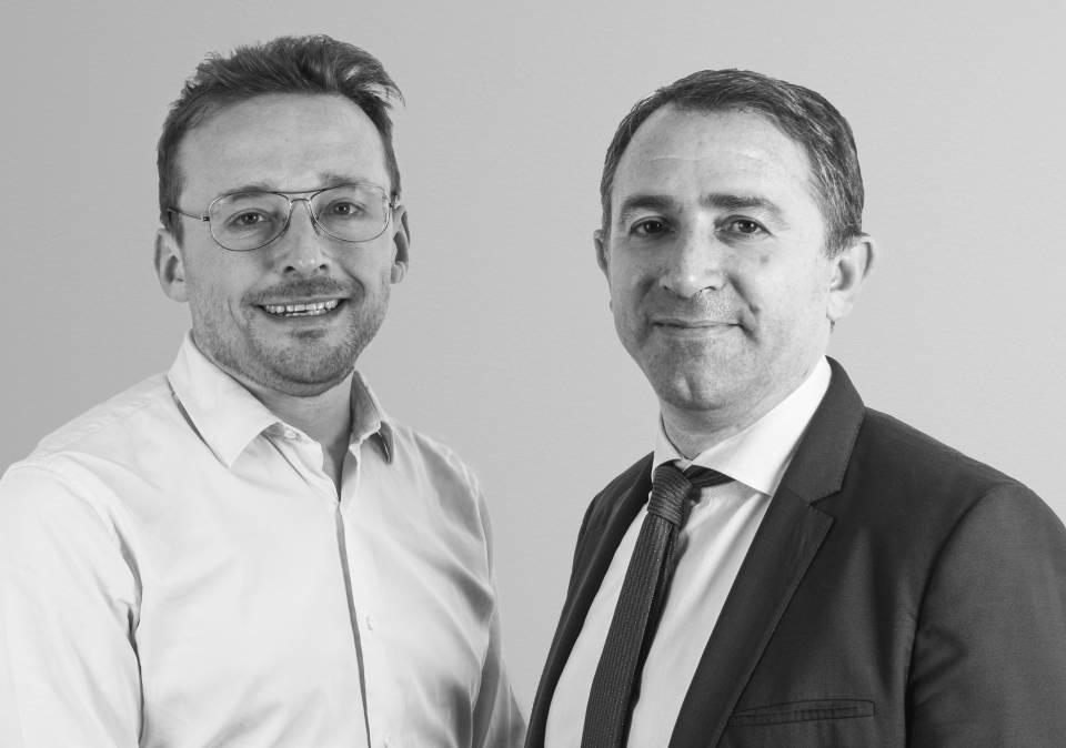 Setzen auf eine gemeinsame Zukunft: Netatmo-Gründer Fred Potter und Legrand-Boß Benoit Coquart.