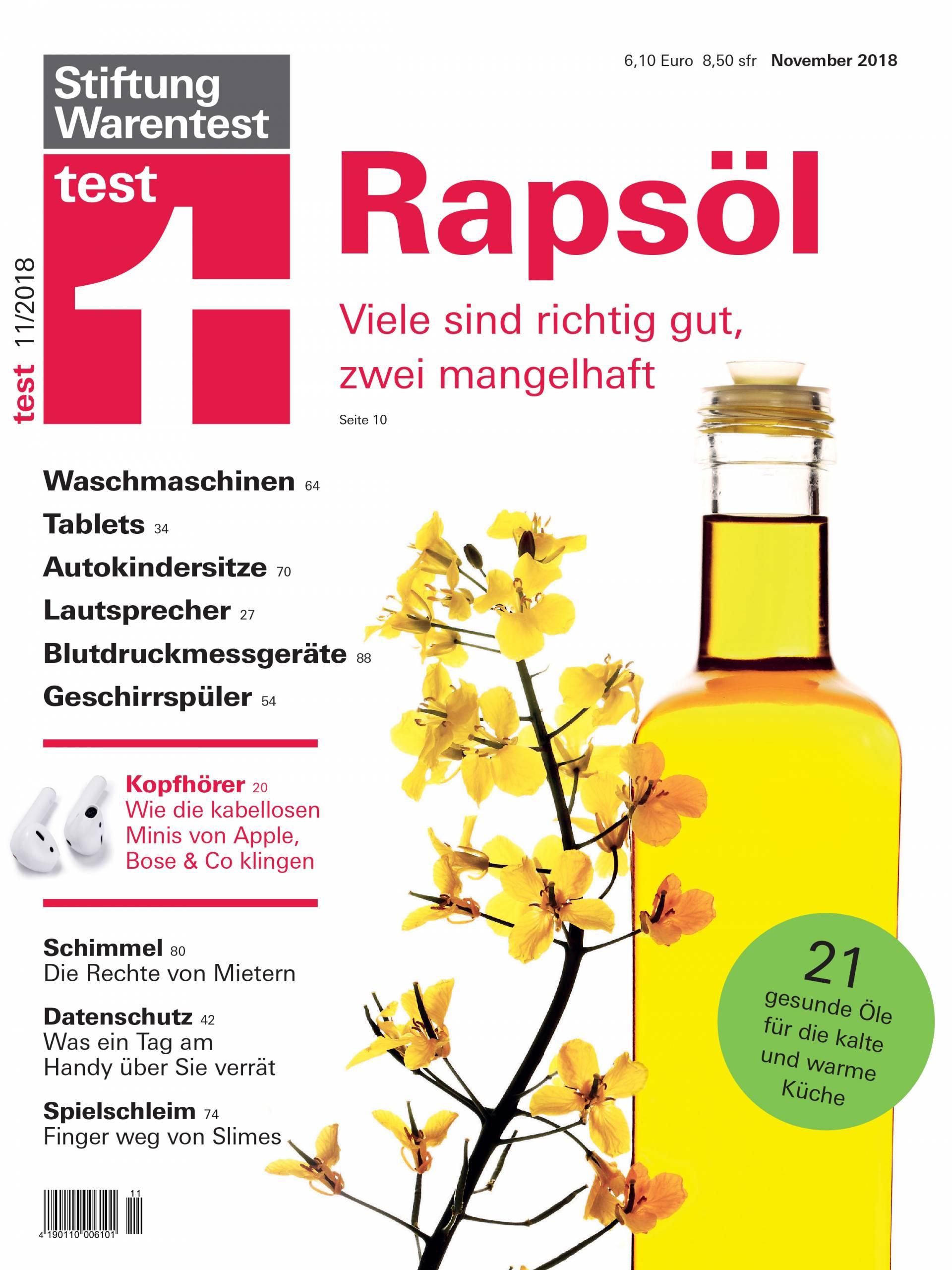 Hochwertig Cover Stiftung Warentest