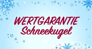 Jahresendgeschäft bei Wertgarantie: Glück mit der Schneekugel.