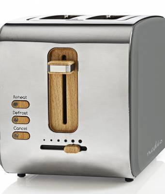 Nedis Soft-Touch-Toaster KABT510 im Retro Design.