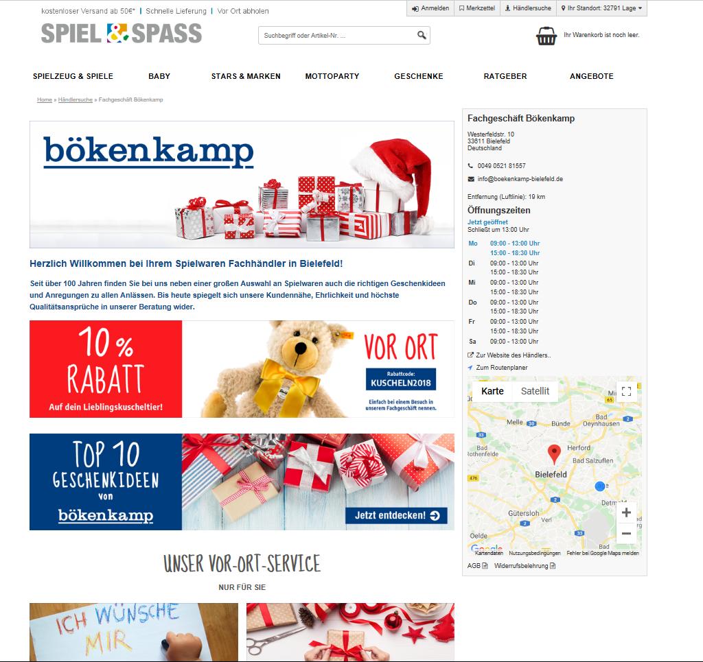Screenshot von Bökenkamp, SpielundSpass, Bielefeld
