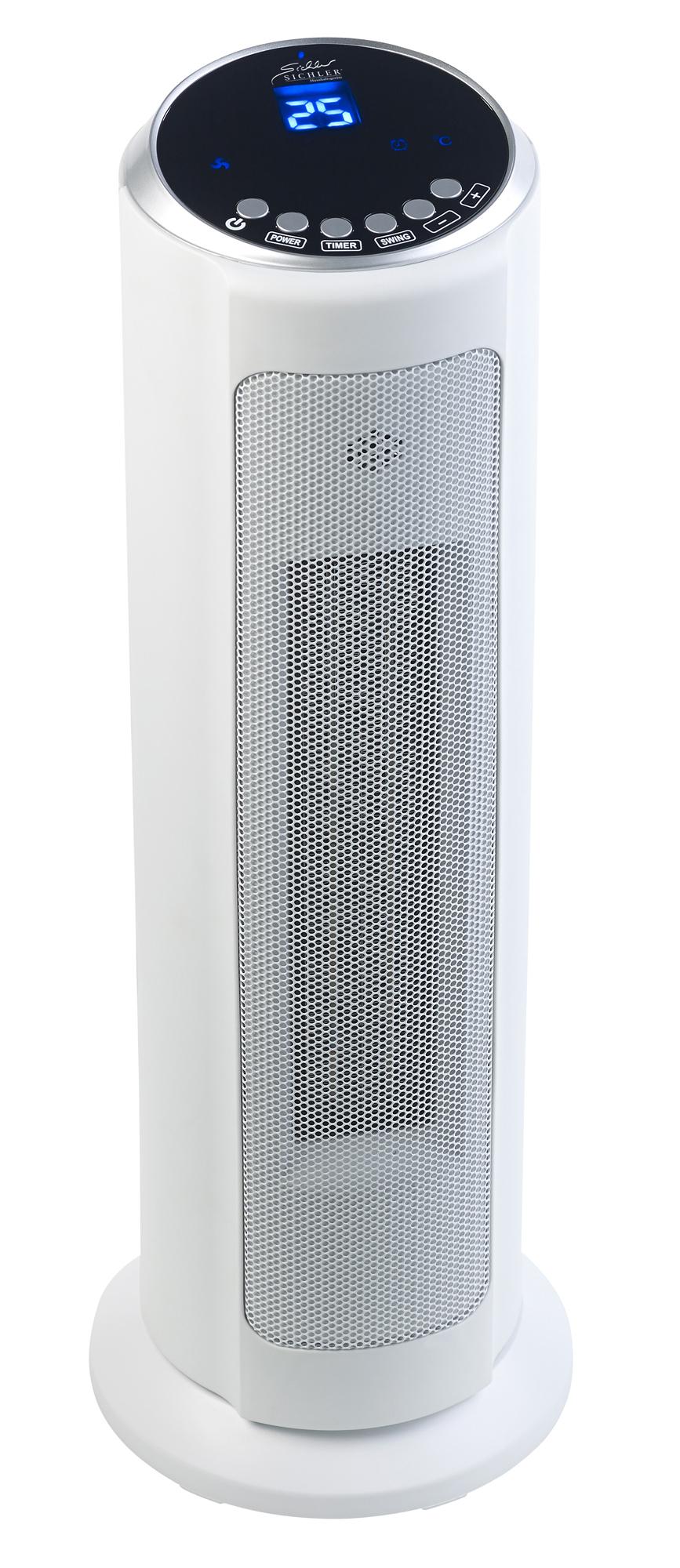 Sichler Heizlüfter LV-850.avs, kompatibel zu Amazon Alexa & Google Assistant.