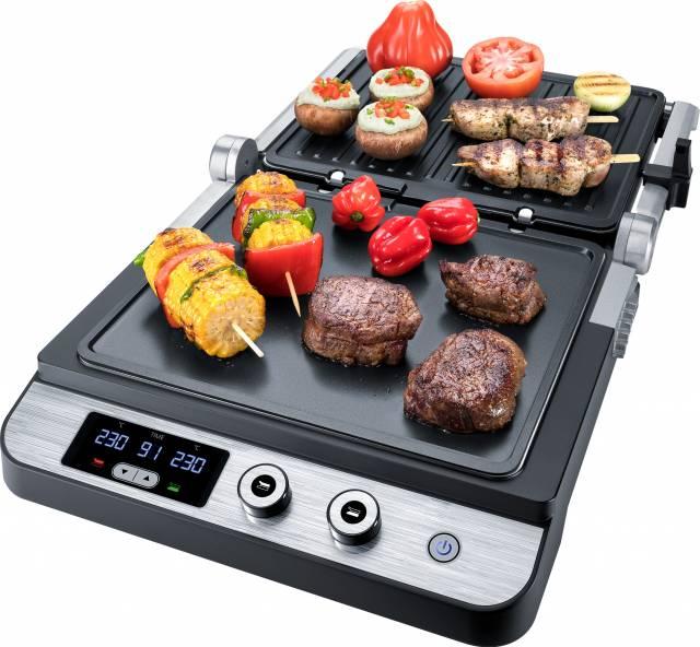 Steba Low-Fat Grill FG 120 zum Kontaktgrillen, Überbacken, offenen Grillen.