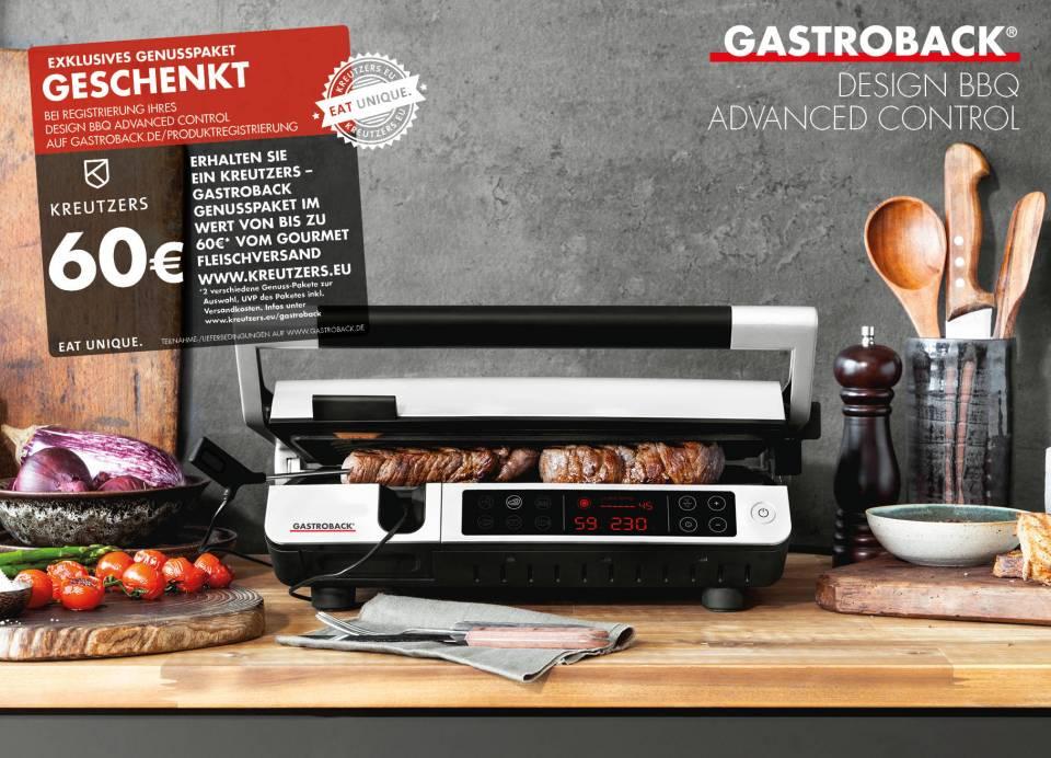 Nicht nur für Fleischliebhaber ab sofort erhältlich: Design BBQ Advanced Control Grill von Gastroback.