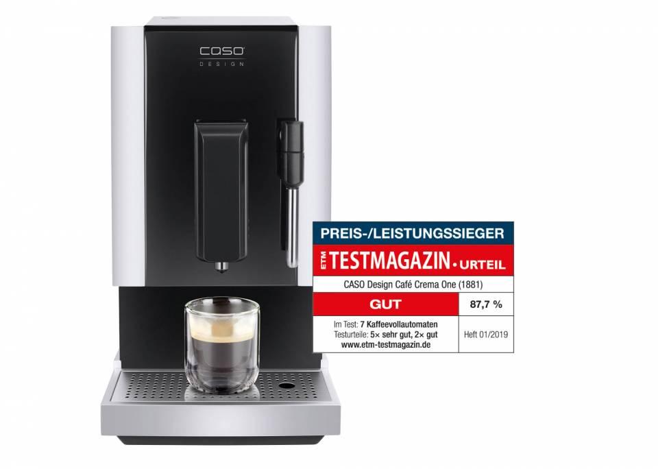 Preis-/Leistungssieger: Der Kaffeevollautomat Café Crema One von Caso.