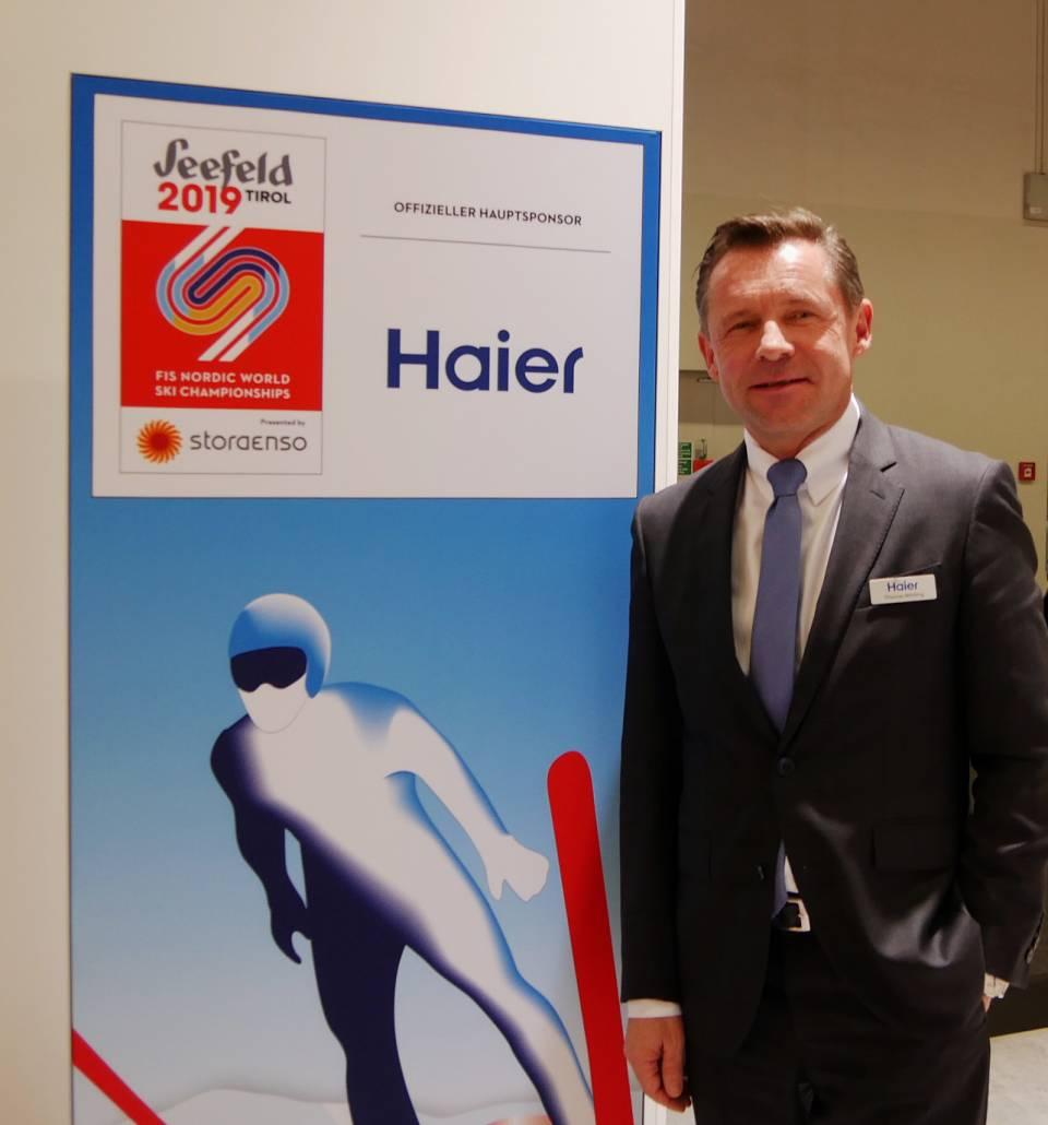 Hat den Coup mit den Nordischen Ski Weltmeisterschaften 2019 eingefädelt: Thomas Wittling, Geschäftsführer Haier DACH.