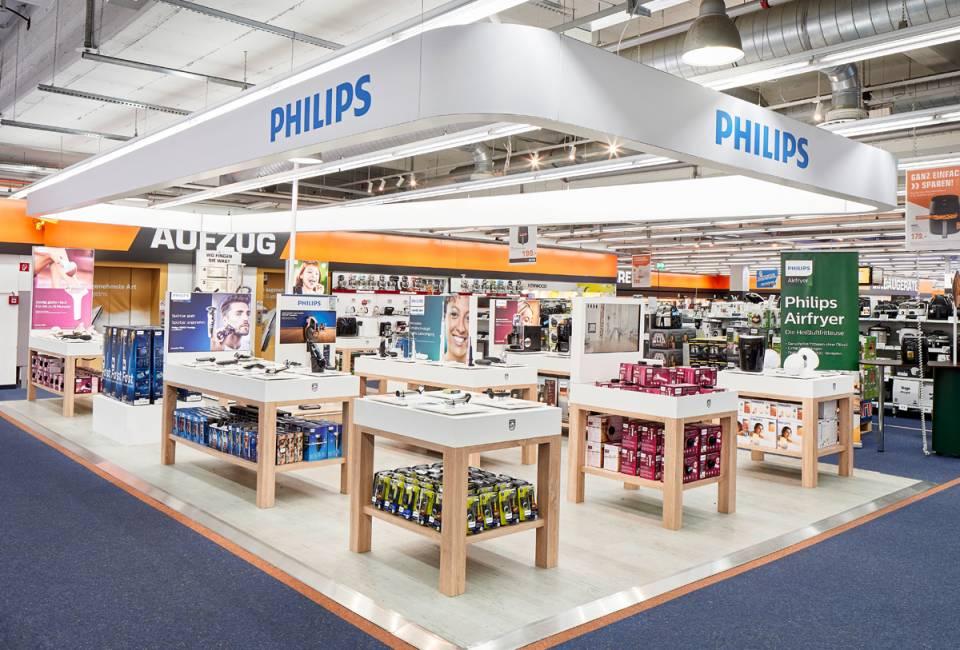 An prominenter Stelle: Philips mit einem Marken-Shop im Hamburger Saturn an der Mönckebergstraße.