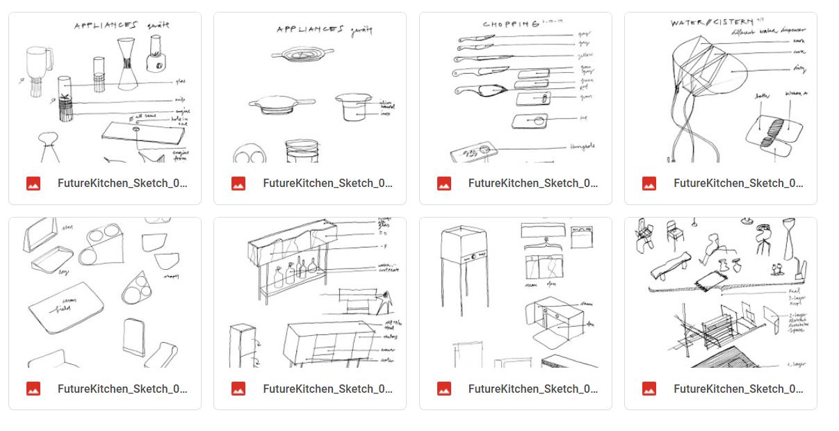 Future Kitchen Zeichnungen