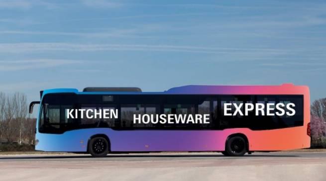 """Ohne Zwischenstopp verkehrt auf der Ambiente 2019 erstmalig der neue """"Kitchen-Houseware-Express"""" zwischen der neuen Halle 12 und der Halle 3. Mit diesem Service werden die beiden Hallen und die Produktbereiche Houseware & Storage (Halle 12) sowie Kitchen (Halle 3) auf komfortable Weise miteinander verbunden."""