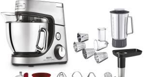 Krups Küchenmaschine Master Perfect Gourmet mit Flex-Bowl Schüssel.