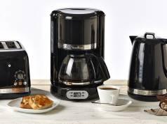 Moulinex Frühstücksserie Soleil mit Filterkaffeemaschine, Toaster und Wasserkocher.